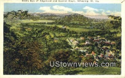 Edgewood, Central Court - Wheeling, West Virginia WV Postcard