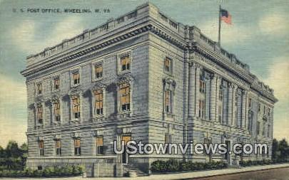 US Post Office - Wheeling, West Virginia WV Postcard