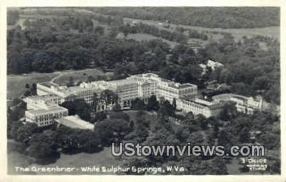Real Photo - The Greenbrier - White Sulphur Springs, West Virginia WV Postcard