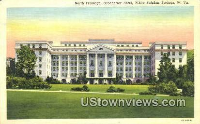 North Frontage, Greenbrier Hotel - White Sulphur Springs, West Virginia WV Postcard
