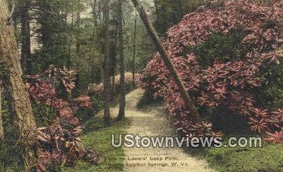 Lovers' Leap Path - White Sulphur Springs, West Virginia WV Postcard