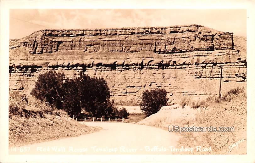 Red Wall Across Tensleep River - Big Horn County, Wyoming WY Postcard