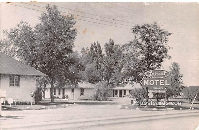 Lariat Motel - Banner, Wyoming WY Postcard