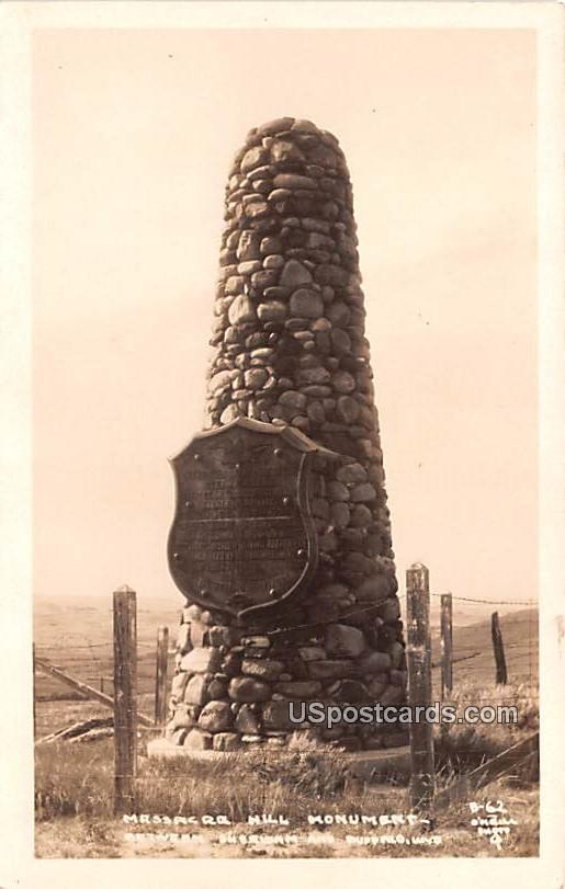 Massacre Hill Monument - Buffalo, Wyoming WY Postcard