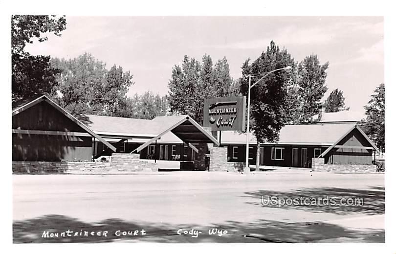 Mountaineer Court - Cody, Wyoming WY Postcard