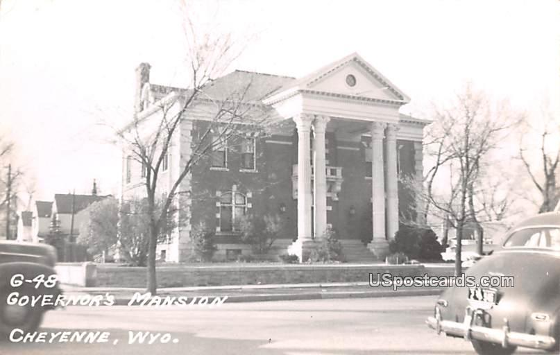 Governors Mansion - Cheyenne, Wyoming WY Postcard