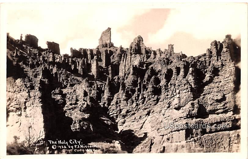 The Holy City - Cody, Wyoming WY Postcard