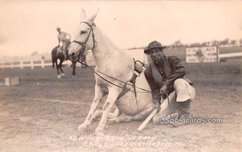 ED Wright Takin it Easy - Cheyenne, Wyoming WY Postcard