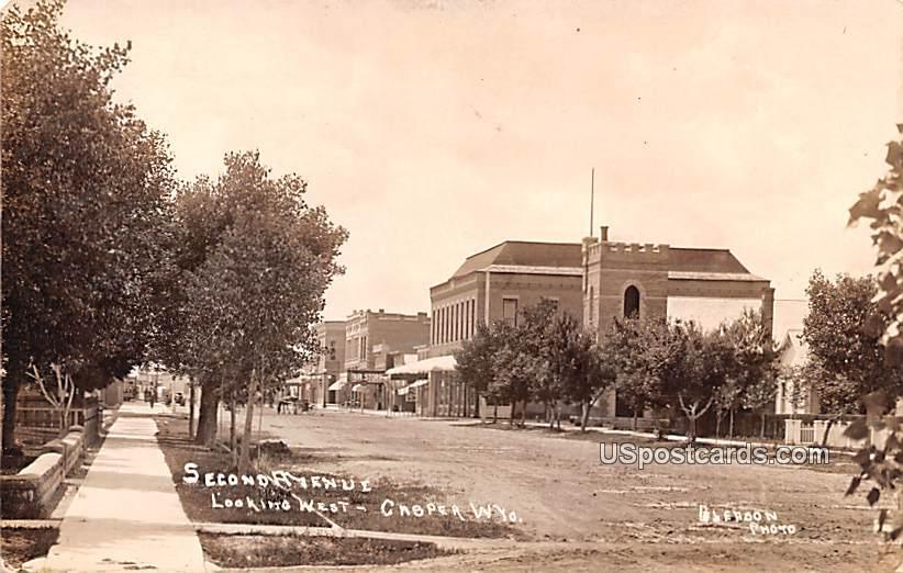 Second Avenue - Casper, Wyoming WY Postcard