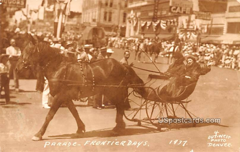 Parade - Cheyenne, Wyoming WY Postcard
