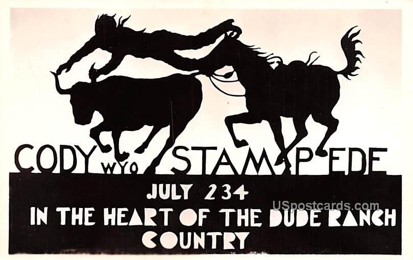 Cody Stampede July - Wyoming WY Postcard