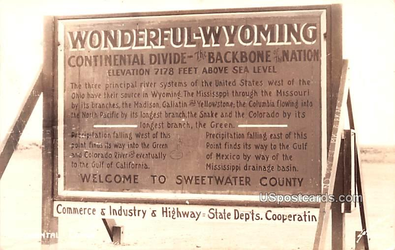 Commerce and Industry Highway - Continental Divide, Wyoming WY Postcard
