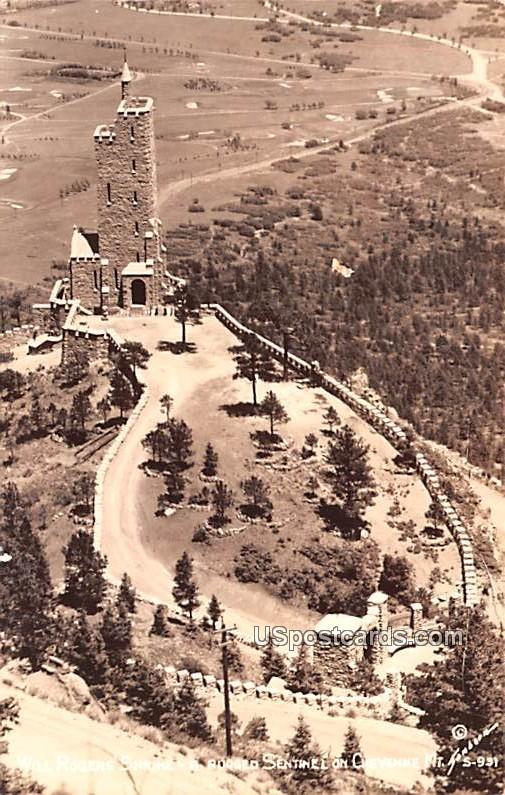 Will Rodgers Shrine - Cheyenne Mountain, Wyoming WY Postcard