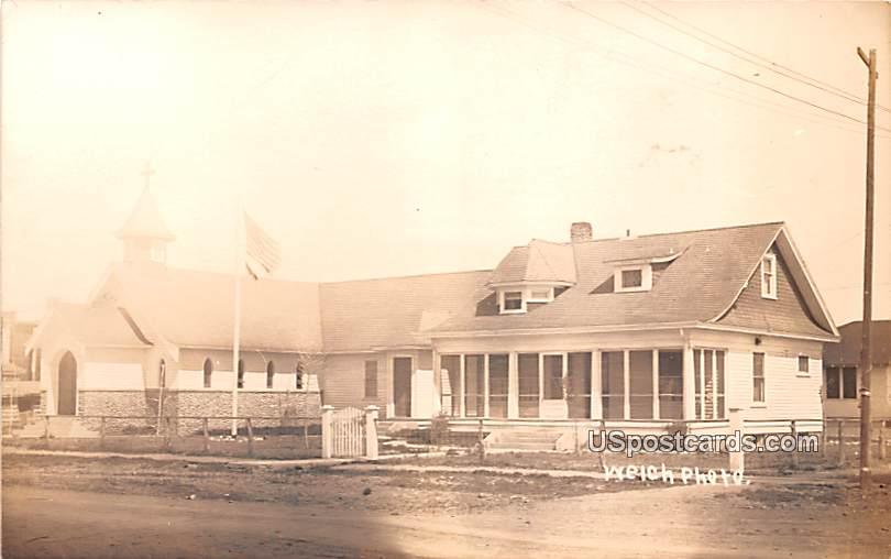 St Pauls Church and Rectory - Dixon, Wyoming WY Postcard
