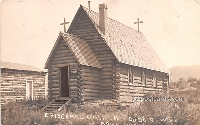 Episcopal Church - Dubois, Wyoming WY Postcard