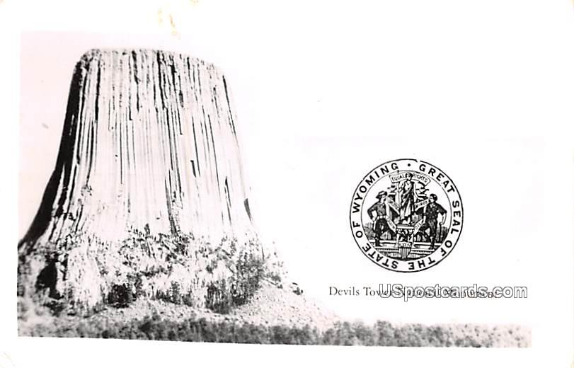 Devils Tower National Monument - Wyoming WY Postcard