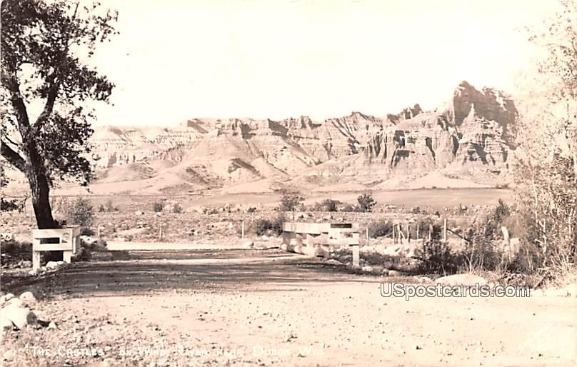 The Castles on Windy River - Dubois, Wyoming WY Postcard