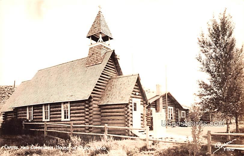 Chapel and Community House - Dubois, Wyoming WY Postcard