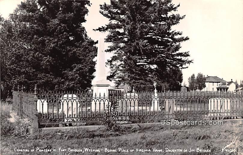 Cemetery of Pioneers - Fort Bridger, Wyoming WY Postcard