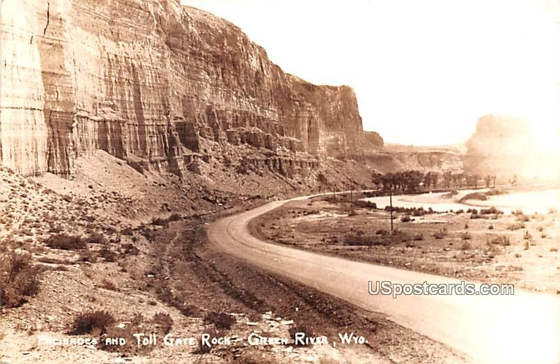Palisades and Toll Gate Rock - Green River, Wyoming WY Postcard