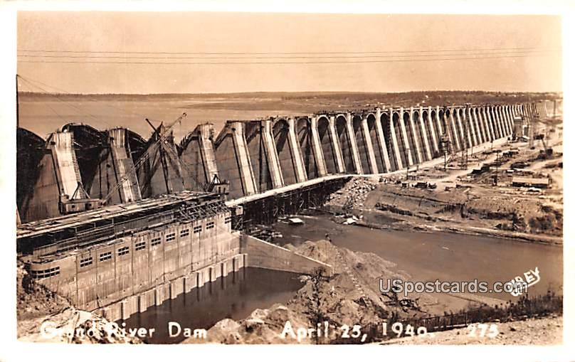 Grand River Dam - Wyoming WY Postcard