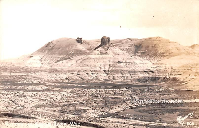 Buttes - Green River, Wyoming WY Postcard