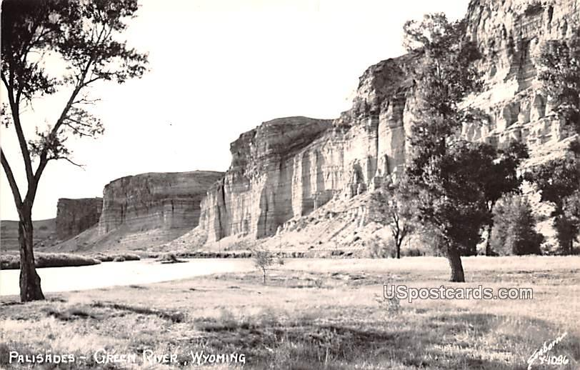 Palisades - Green River, Wyoming WY Postcard