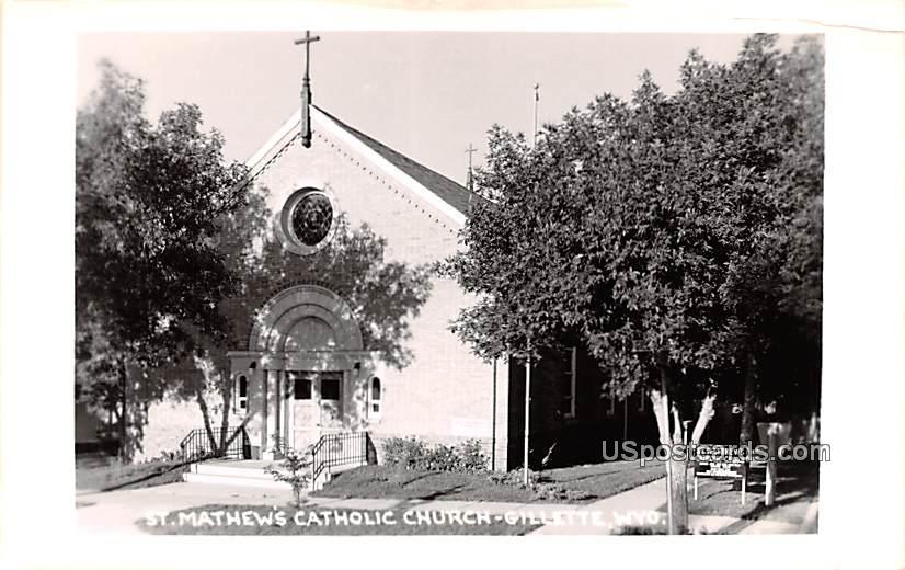 St Mathew's Catholic Church - Gillette, Wyoming WY Postcard