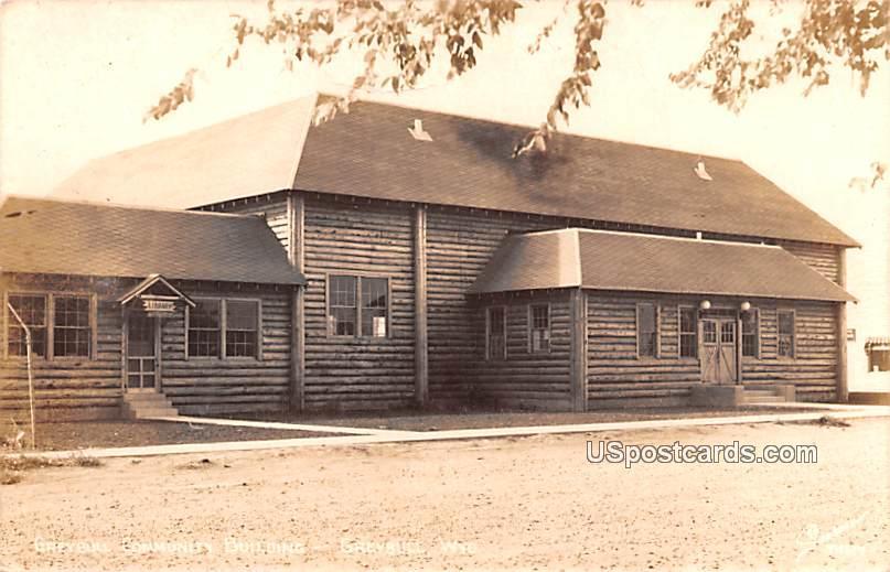 Greybull Community Building - Graybull, Wyoming WY Postcard