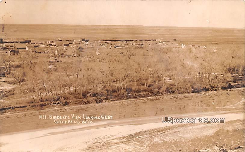 Birds Eye View - Greybull, Wyoming WY Postcard