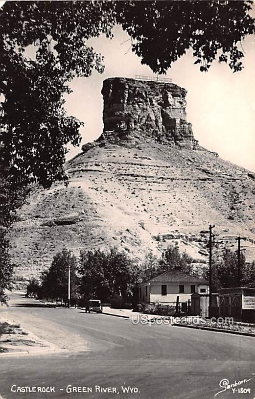 Castlerock - Green River, Wyoming WY Postcard