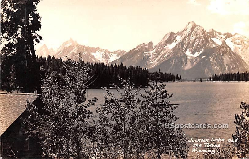 Jackson Lake and Tetons - Wyoming WY Postcard