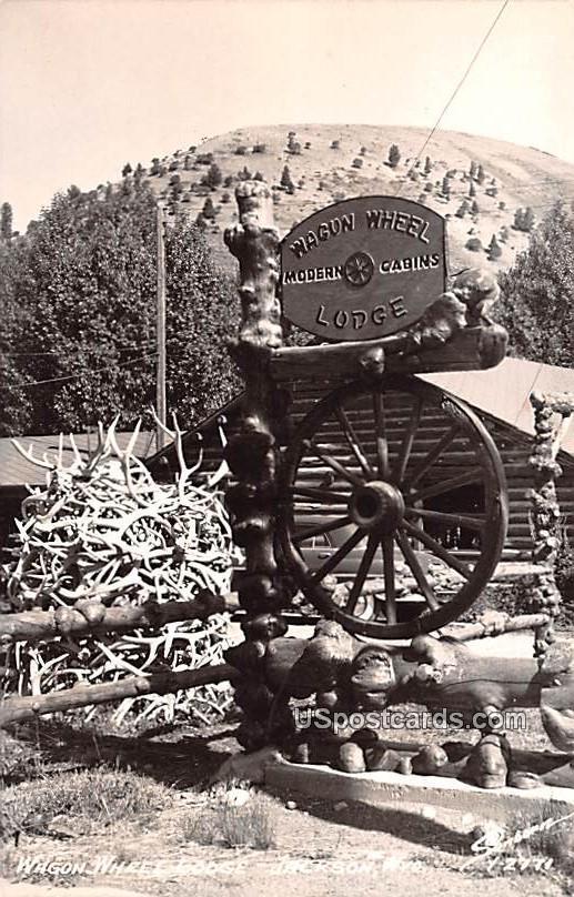 Wagon Wheel Lodge - Jackson, Wyoming WY Postcard