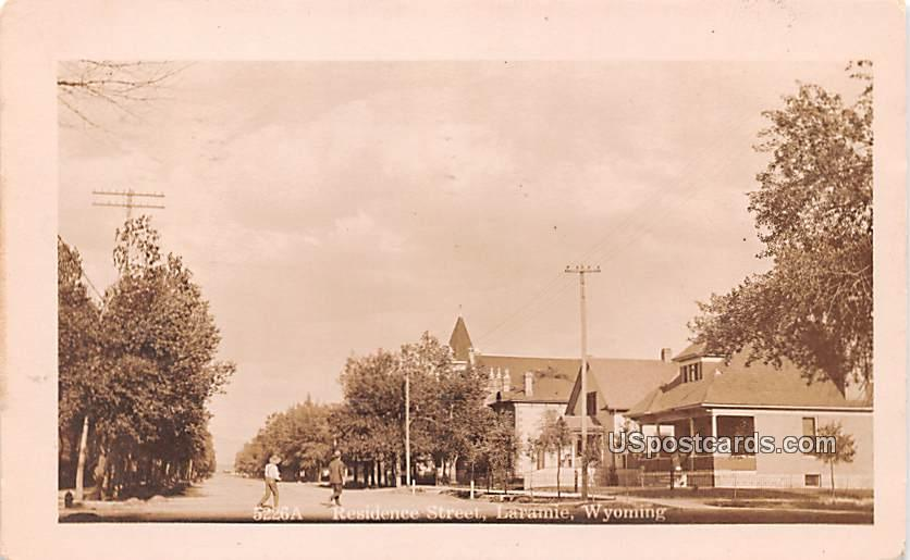Residence Street - Laramie, Wyoming WY Postcard