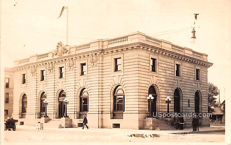 Post Office - Laramie, Wyoming WY Postcard