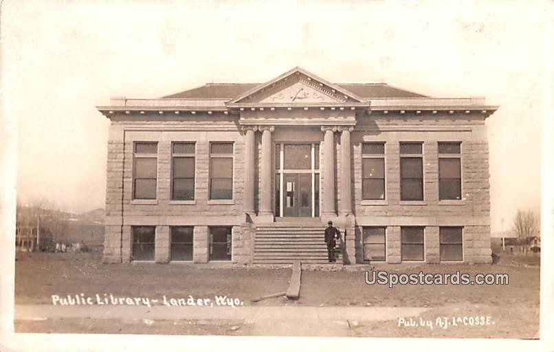 Public Library - Lander, Wyoming WY Postcard