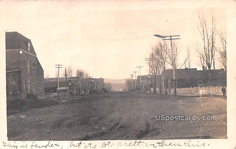 Street Scene - Lauder, Wyoming WY Postcard