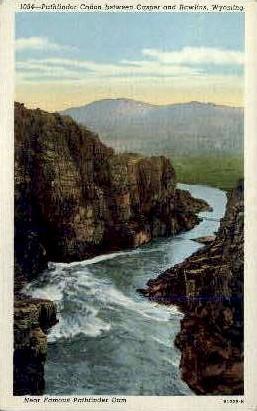 North Platte River, Casper - Rawlins, Wyoming WY Postcard