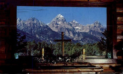 Chapel of Transfiguration - Moose, Wyoming WY Postcard