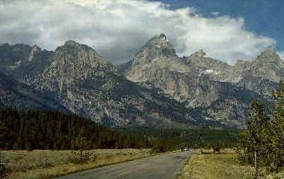 The Grand Tetons - Jackson Hole, Wyoming WY Postcard