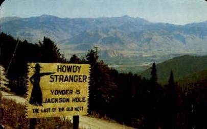 Teton Pass - Jackson Hole, Wyoming WY Postcard