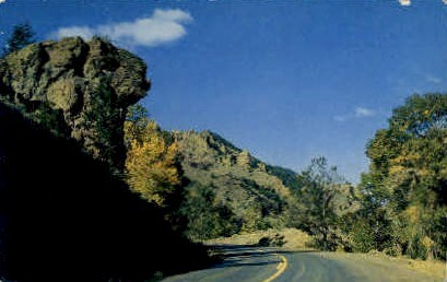 Laughing Pig Rock - Cody, Wyoming WY Postcard