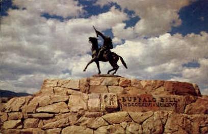 Buffalo Bill Statue - Cody, Wyoming WY Postcard