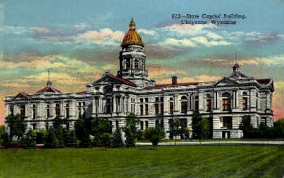 State Capitol Building - Cheyenne, Wyoming WY Postcard