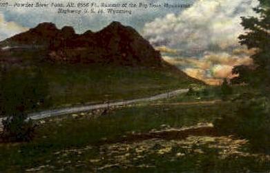 Powder River Pass - Wyoming WY Postcard