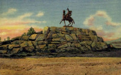Buffalo Bill Monument - Cody, Wyoming WY Postcard