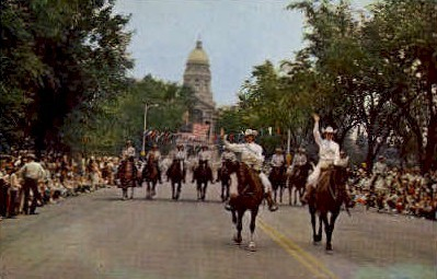 Cheyenne Frontier Days Parade - Wyoming WY Postcard