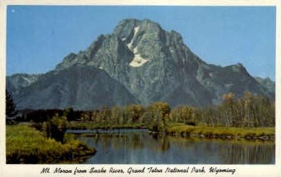 Mt. Moran from Snake River - Grand Teton National Park, Wyoming WY Postcard