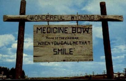 Medicine Bow, Wyoming, WY Postcard