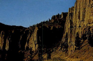The Palisades - Cody, Wyoming WY Postcard